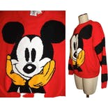 another view of 80's/90s Red Mickey Mouse Pullover Sweaterby Micky & Co