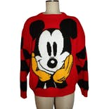 80's/90s Red Mickey Mouse Pullover Sweaterby Micky & Co