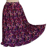 80's Abstract Signature Print Crystal Pleated Midi Skirt by Diane Freis