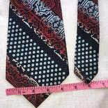 another view of 80's Red and Blue Ombre Tie by Armando Collection