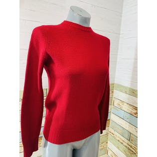 80's Red Cashmere Sweater by B'atlamane by Glemac of Scotland