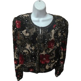 80's Beaded Silk Jacket by Laurence Kagan