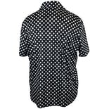 another view of 80's Black and White Polka Dot Button Up by Blair