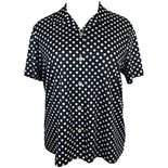 80's Black and White Polka Dot Button Up by Blair