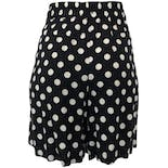 another view of 80's Black Polka Dot Shorts by Virgin Island