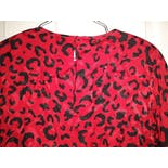 another view of 80's Black and Red Party Dress with Leopard Print by Spenser Jeremy