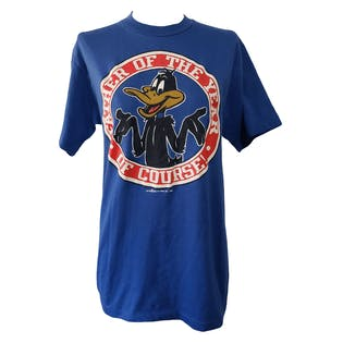 80's Blue Daffy Duck Father of The Year T-Shirt by Artex
