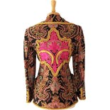 another view of 80's Embellished and Embroidered Bright Paisley Jacket by Christian Lacroix