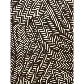 80's Brown & White Geometric Scarf by Diane von Furstenberg