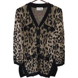 80's Cheetah Print Cardigan by San Remo