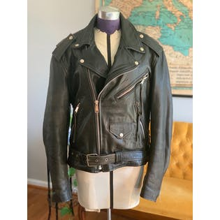 80's Classic Leather Jacket by Gino Leathers