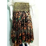 another view of 80's Deadstock Lurex Boho Gypsy Skirt by Diane Freis