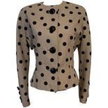 80's Dolman Sleeve Polka Dot Cropped Blazer by Jacobson's