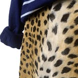 another view of 80's Faux Fur Leopard Print Mini Skirt