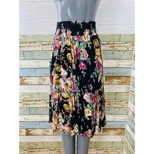 80's Floral Two Piece Skirt Set by Moda Internacional