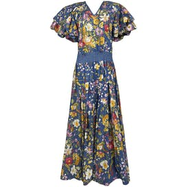 80's Floral Cotton Dress by Diane Freis