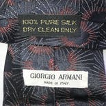 another view of 80's Silk Printed Tie by Georgio Armani
