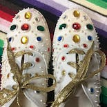 another view of 80's Rhinestone Puff Paint Sneakers by Glitzies