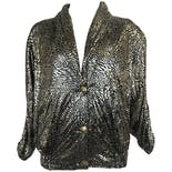 80's Gold Metallic Animal Print Jacket by Talk Of The Walk