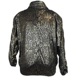 another view of 80's Gold Metallic Animal Print Jacket by Talk Of The Walk