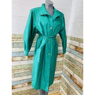 80's Teal Trench Coat by Cambridge
