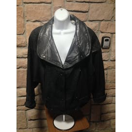 80's Oversized Leather Jacket by Winlit