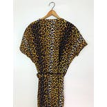 another view of 80's Leopard Print Cotton Caftan Short Robe