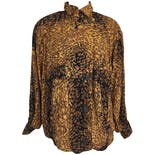 80's Animal Print Oversized Jacket by A.b.s California