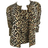 Leopard Button Up Cardigan and Shell Set by Elizabeth New York