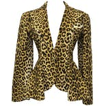 another view of 80's Leopard Print Skirt Suit by Patrick Kelly