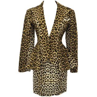 80's Leopard Print Skirt Suit by Patrick Kelly