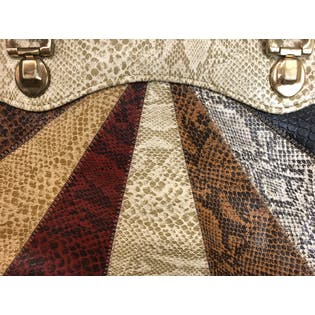 80's Multicolor Snakeskin Patchwork Purse
