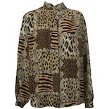 80's Multi Animal Print Button Up by Fiji Sport