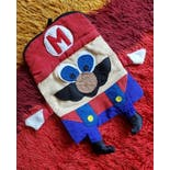 another view of 80's Homemade OOAK Bootleg Mario Backpack