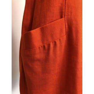 80's Deadstock Orange Pocket Sleeveless Shift Dress by Jessica Howard By Mitchell Rodbell