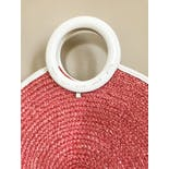 another view of 80's Oversized Pink Woven Straw Bag