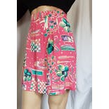 another view of 80's Print Pink Short with Elastic Waist by Alfred Dunner