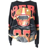 80's Printed 49ers Pullover by Caribe