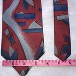 another view of 80's Abstract Silk Tie by Hatfield House
