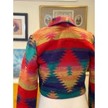 another view of 80's Southerwstern Cropped Knit Jacket by Rhonda Stark