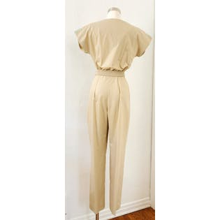 80's Tan + Pastel Jumpsuit by Brenner