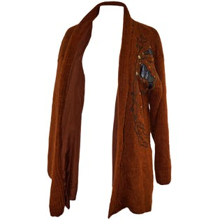 80's Brown Mohair Cardigan