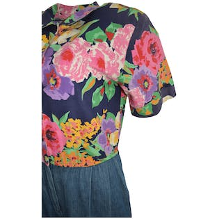 80's Floral Jumpsuit by Petrina and Co.