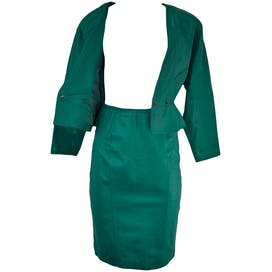 80's Green Leather 2 Piece Set by Chia