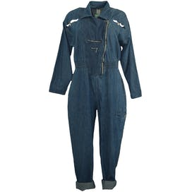 80's Jean Coverall with Asymmetrical Zipper by Jett Paris