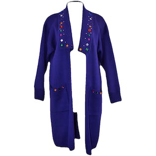 80's Purple Cardigan with Jewels and Studs