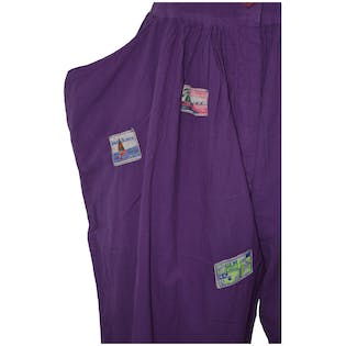 80's Purple Sleeveless Jumpsuit with Patches