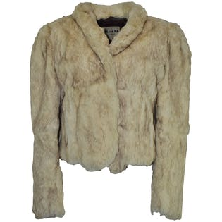 80's Rabbit Fur Crop Jacket by Split End ITD.