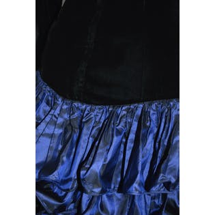 80's Ruffle and Velvet Dress by Vicky Tiel