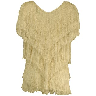 80's White Fringe Shirt by French Rags